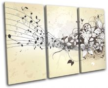 Musical  Floral Abstract - 13-0682(00B)-TR32-LO